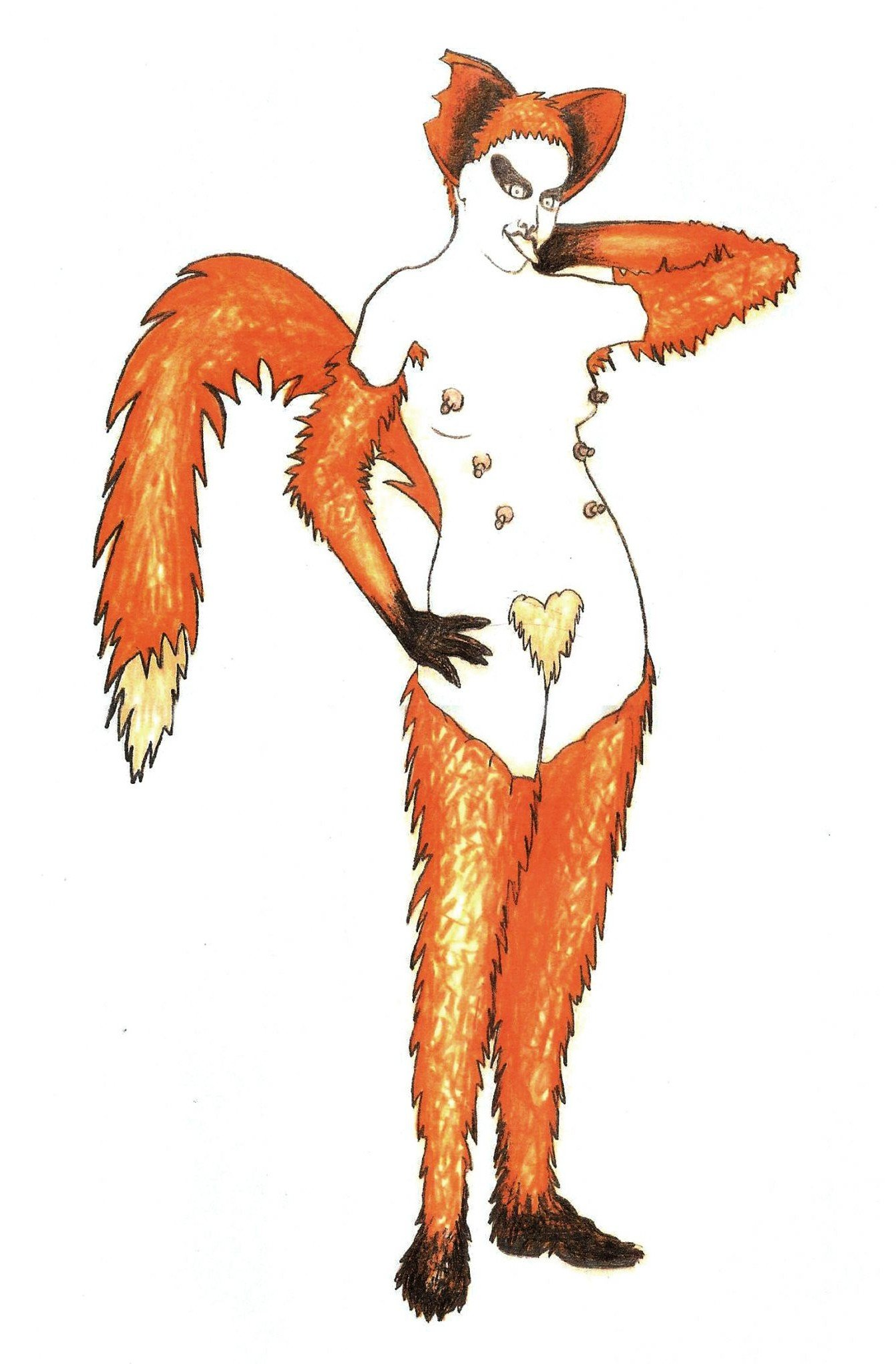 Simon Lima Holdsworth The Cunning Little Vixen (costume illustrations)